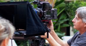 Sony F55 and Teleprompter
